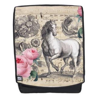 equine vintage music backpack