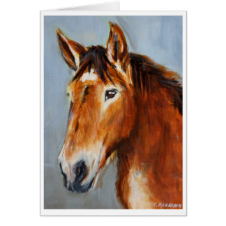Equine Voices Gulliver Card with Border