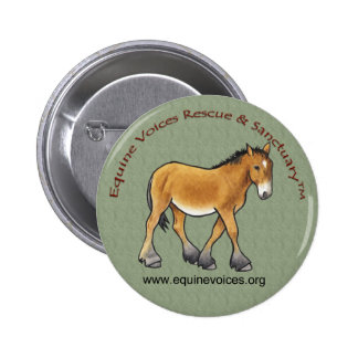 Equine Voices Gulliver Mascot Button