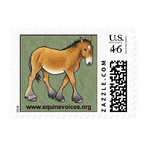 Equine Voices Gulliver Mascot Postage Stamp