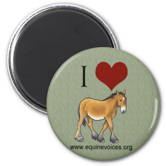 Equine Voices I Love Gulliver Green Magnet