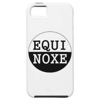 equinoccio blanco y negro funda para iPhone SE/5/5s