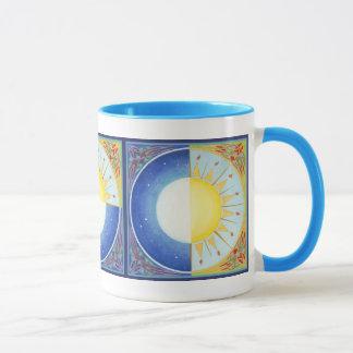 Equinoccio céltico Sun y taza de la luna para