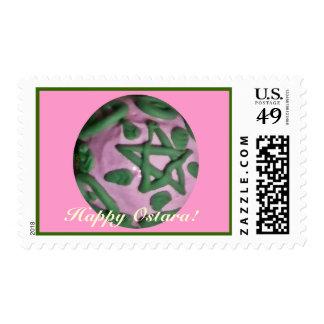 Equinoccio de primavera rosado y verde de Ostara Franqueo