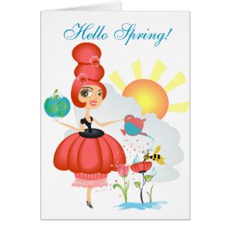 Equinoccio de primavera tarjeta pequeña