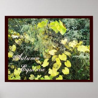 Equinoccio Mabon salvaje del otoño Posters