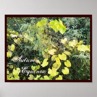 Equinoccio Mabon salvaje del otoño Poster