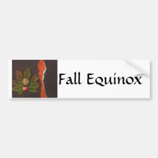 Equinoccio otoñal - collage pegatina para auto