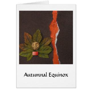 Equinoccio otoñal - collage tarjeta de felicitación