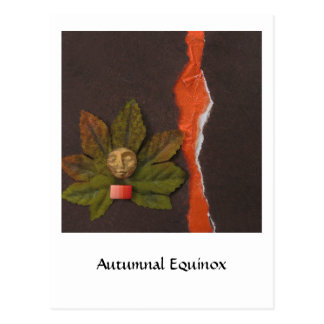 Equinoccio otoñal - collage tarjeta postal