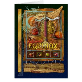 Equinoccio otoñal tarjeta de felicitación