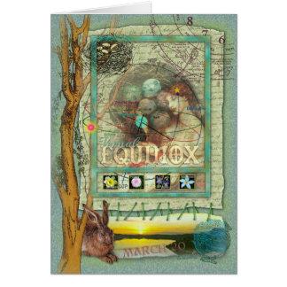 Equinoccio vernal tarjeta de felicitación