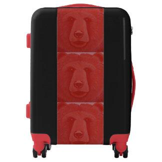 Equipaje bermellón del oso maletas