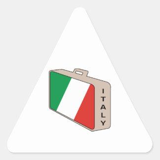 Equipaje de Italia Pegatina Triangular