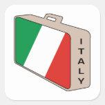 Equipaje de Italia Pegatinas Cuadradases