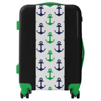 Equipaje náutico verde y azul maletas