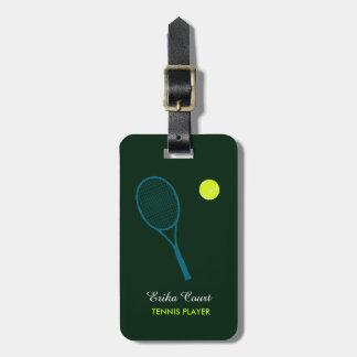 equipaje personalizado del tennist etiqueta de equipaje