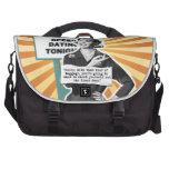 Equipaje retro de la mujer del arte pop bolsas para portatil