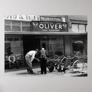 Equipamiento agrícola del vintage, los años 30 posters