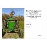 Equipamiento agrícola usado divertido/lindo plantilla de tarjeta personal