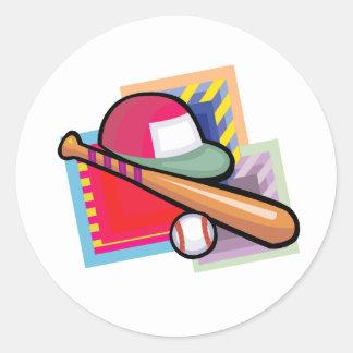 Equipment Baseball Classic Round Sticker