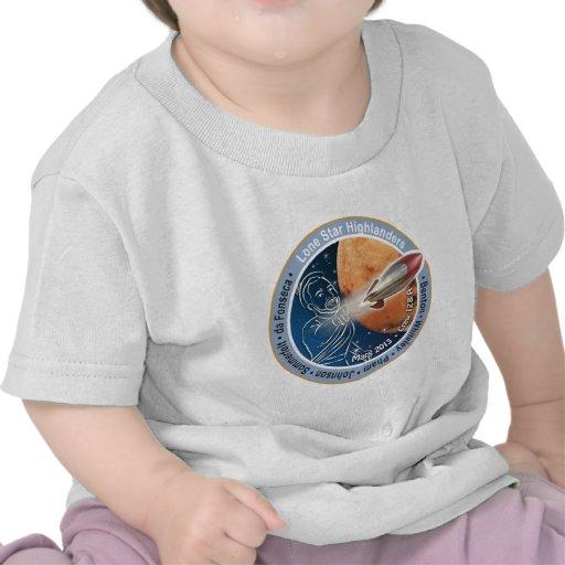 Equipo 128A del remiendo de Marte Camisetas