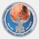 Equipo 128B de Marte 101 Pegatina Redonda