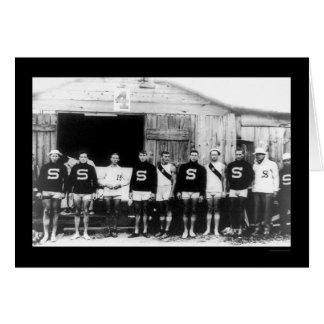 Equipo 1912 del Rowing del equipo universitario de Tarjeta De Felicitación