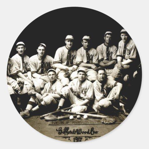 Equipo 1917 de béisbol pegatina redonda