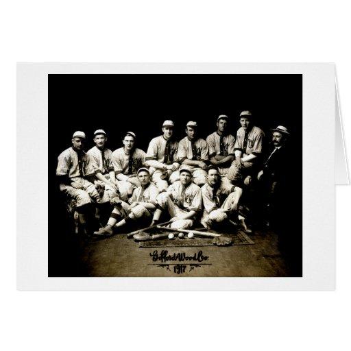 Equipo 1917 de béisbol tarjeta de felicitación