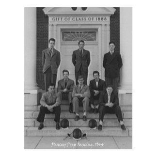 Equipo 1945 de cercado tarjetas postales