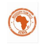 Equipo 2013 de Kenia de la CROMATOGRAFÍA GASEOSA Tarjeta Postal