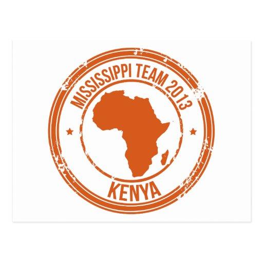 Equipo 2013 de Kenia de la CROMATOGRAFÍA GASEOSA Postal