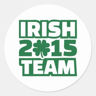 Equipo 2015 del irlandés pegatina redonda