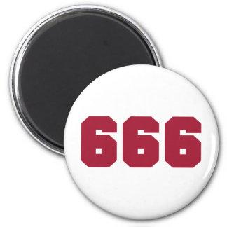 Equipo 666 imán redondo 5 cm