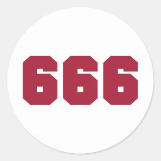 Equipo 666 pegatina redonda