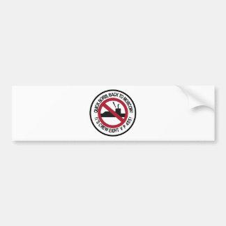 Equipo 8 de la escuadrilla de la escuadrilla del etiqueta de parachoque