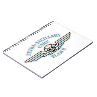 Equipo Adicional-Ancilar 8 del cuidado Libro De Apuntes Con Espiral