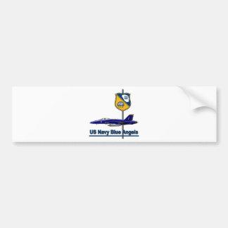 Equipo aeroacrobacia de los ángeles azules etiqueta de parachoque