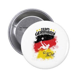 equipo Alemania Pin Redondo De 2 Pulgadas