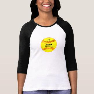 Equipo amarillo personalizado del número del poleras