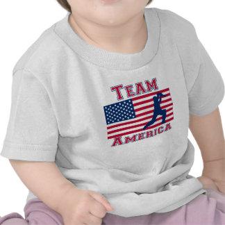 Equipo América de la bandera americana del jugador Camiseta