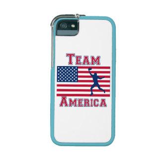 Equipo América de la bandera americana del recepto