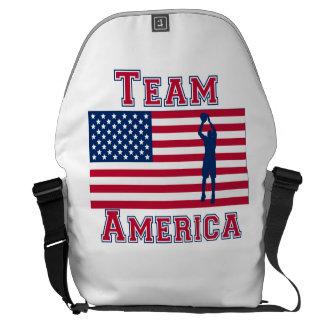 Equipo América de la bandera americana del tiro en