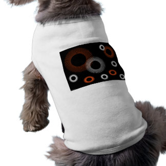Equipo anaranjado del mascota de Starburst Playera Sin Mangas Para Perro