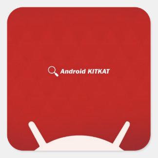 Equipo androide Kat Calcomania Cuadrada Personalizada