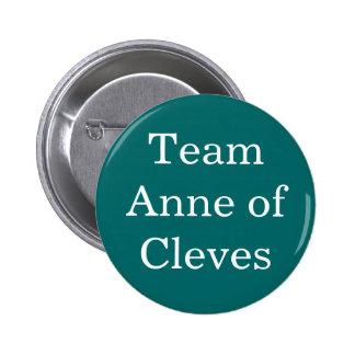 Equipo Anne de Cleves Pin Redondo De 2 Pulgadas