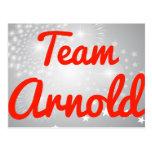 Equipo Arnold Tarjeta Postal