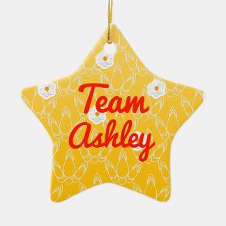Equipo Ashley Adorno Navideño De Cerámica En Forma De Estrella