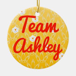 Equipo Ashley Adorno Navideño Redondo De Cerámica